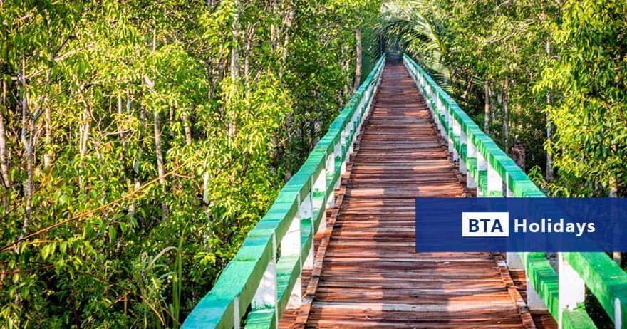 Walk way on Budget Sundarban Day Tour Package in Bangladesh