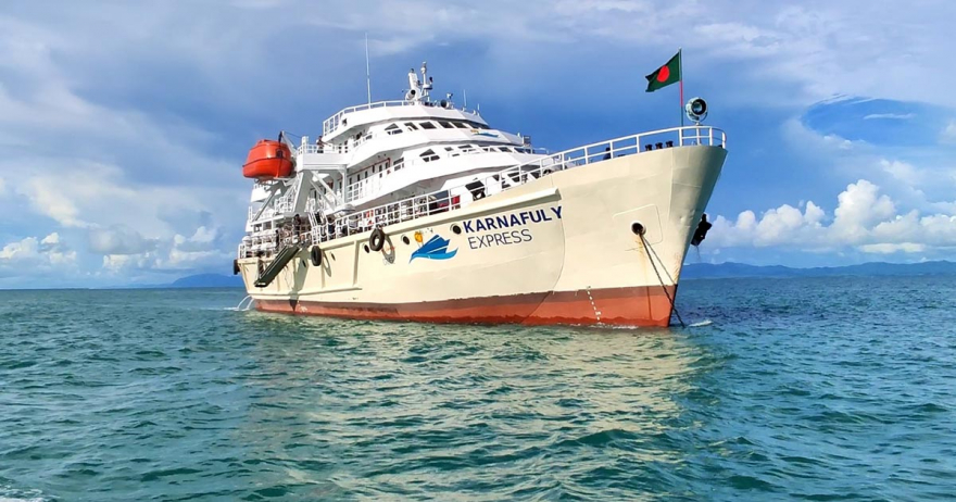 Karnafuly Express ship running between Cox's Bazar and St. Martin's Island